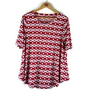 Chico's Ultimate Tee Size 2= Large Red and White
